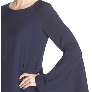 Likely Perry bell sleeve shift dress
